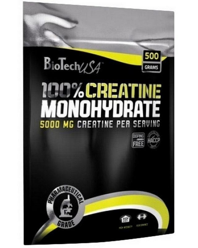 Креатин Creatine Monohydrate 100% package 500g. Biotech USA – «СпортМеню»