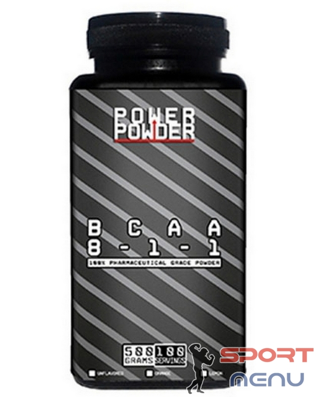Аминокислоты BCAA 8-1-1 200 g. Power Powder – «СпортМеню»