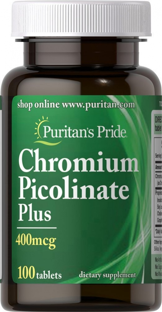 Chromium Picolinate Plus 100 tab Puritan's Pride – «СпортМеню»