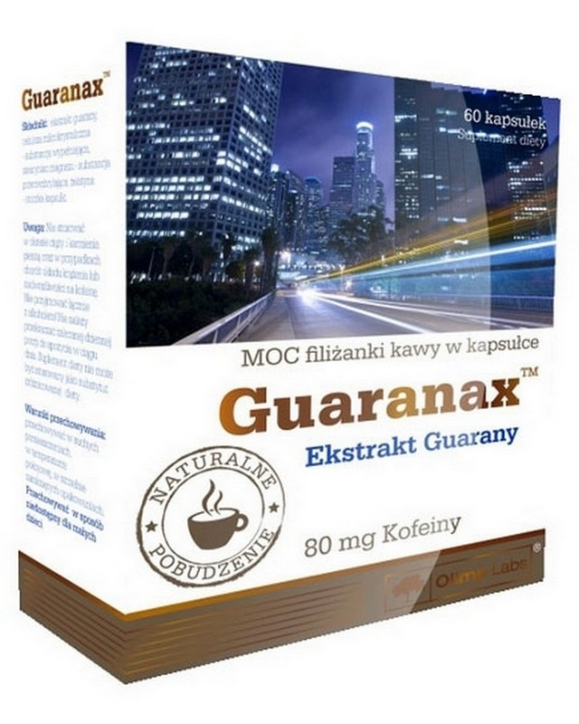Энергетик Guaranax 60 caps. Olimp – «СпортМеню»