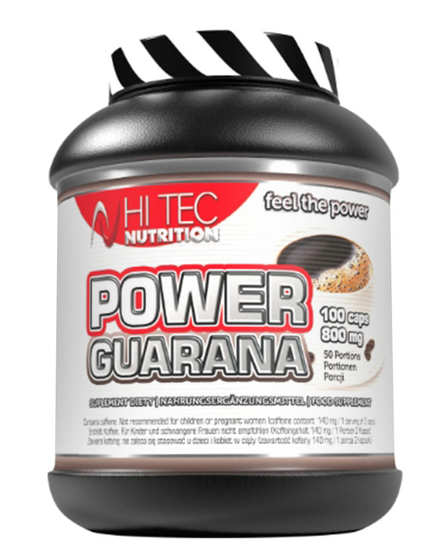 Энергетик Power Guarana 100 caps. Hi-Tec Nutrition – «СпортМеню»