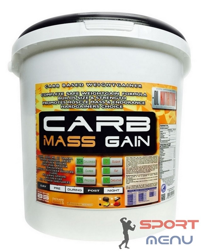 Гейнер Carb Mass Gain 5400 g. DL Nutrition – «СпортМеню»