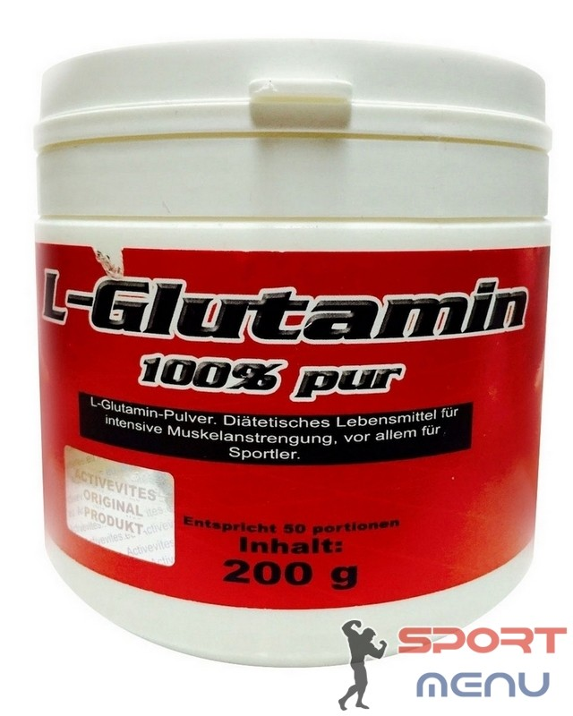 L-Glutamine 100% pure 200 g. Activevites – «СпортМеню»