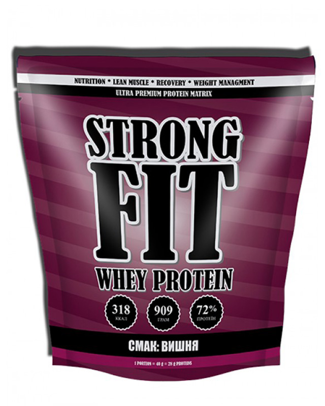 Протеин Whey Protein 909 g. Strong Fit – «СпортМеню»
