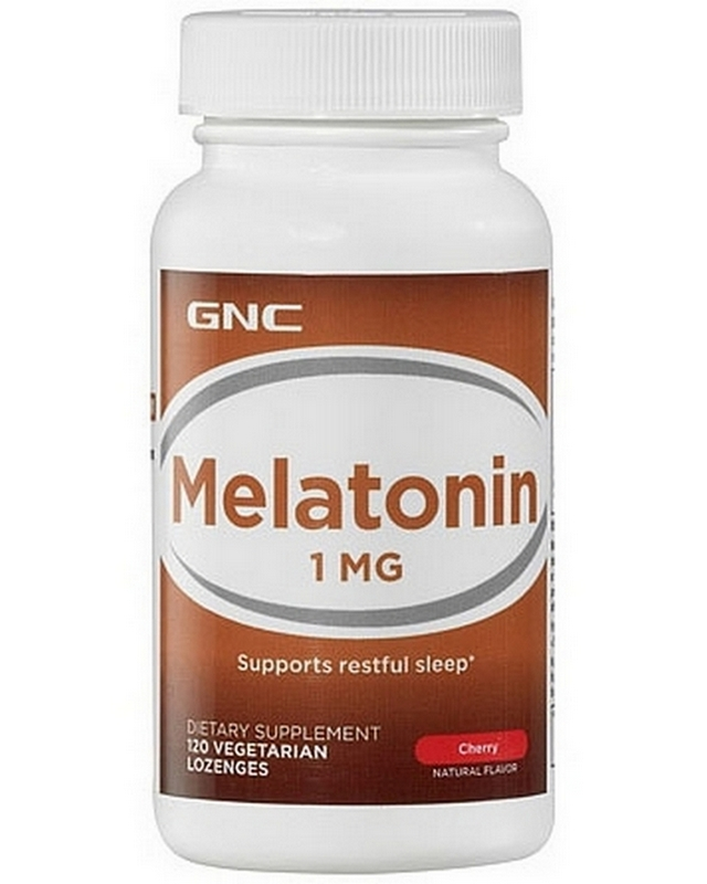 Регулятор сна Melatonin 1 mg 120 caps. GNC – «СпортМеню»