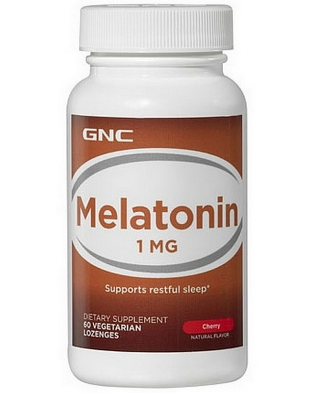 Регулятор сна Melatonin 1 mg 60 caps. GNC – «СпортМеню»