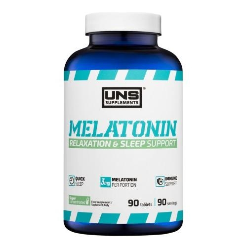 Регулятор сна Melatonin 90 tab. UNS – «СпортМеню»