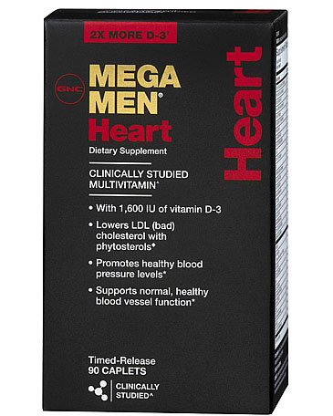 Витамины Mega Men Heart 90 tab. GNC – «СпортМеню»