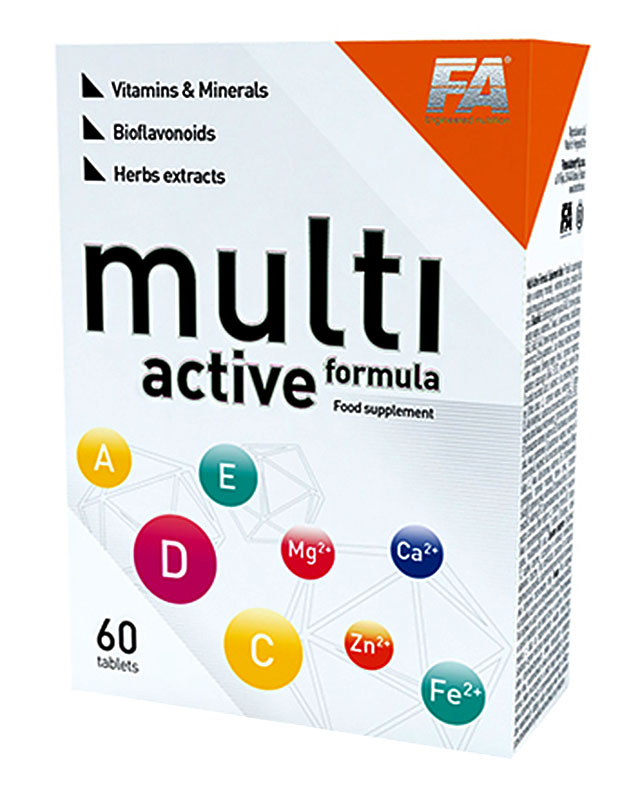 Витамины Multi Active Formula 60 tab. Fitness Authority – «СпортМеню»