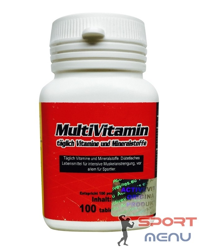 Витамины MultiVitamin 100 tabl. Activevites – «СпортМеню»