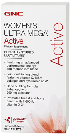 Витамины Womens Ultra Mega Active 90 tab. GNC – «СпортМеню»