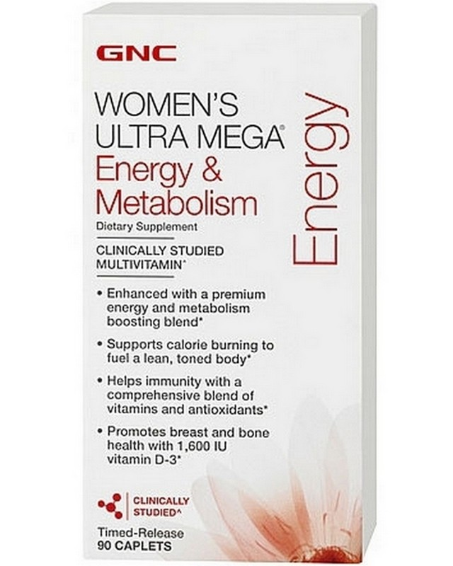 Витамины Womens Ultra Mega Energy and Metabolism 90 caps. GNC – «СпортМеню»
