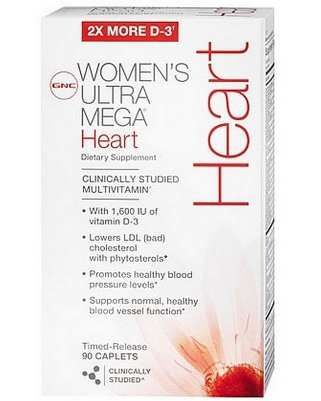 Витамины Womens Ultra Mega Heart 90 caps. GNC – «СпортМеню»