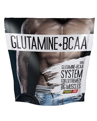 Glutamine+BCAA 500 g. Power Pro