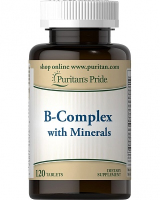 Витамины B-Complex with Minerals 120 tab. Puritain's Pride