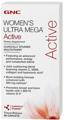 Витамины Womens Ultra Mega Active 90 tab. GNC