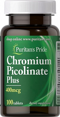 Chromium Picolinate Plus 100 tab Puritan's Pride