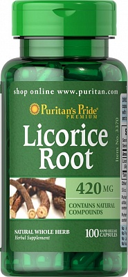 Licorice 100 tab. Puritan's Pride