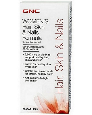 Витамины Hair, Skin and Nails 60 tab. GNC