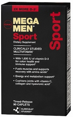 Витамины Mega Men Sport 90 caps. GNC